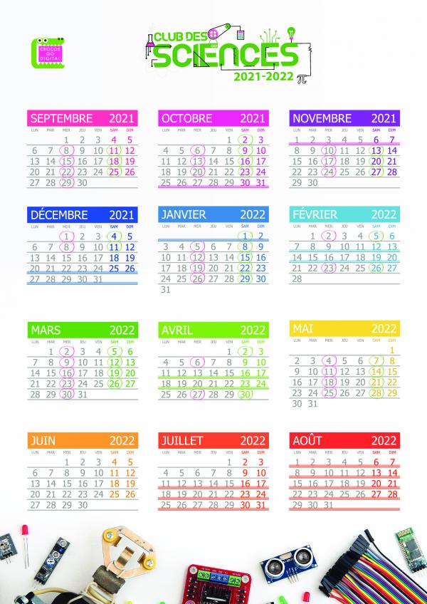 dates agenda club des sciences